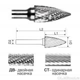 Гиперболическая борфреза с точечным концом тип G