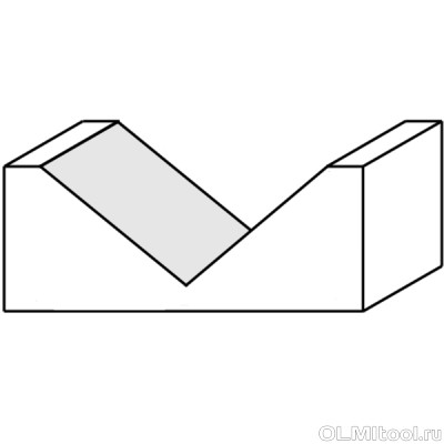 Фреза пазовая c углом 90гр. S=12 D=19,5x15,9 ARDEN 200241