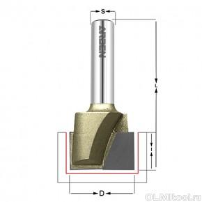 Фреза для выравнивания дна D=38x11,9x60 S=12 ARDEN 214251