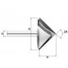 Фреза V-образная конусная DJTOL N2V632130