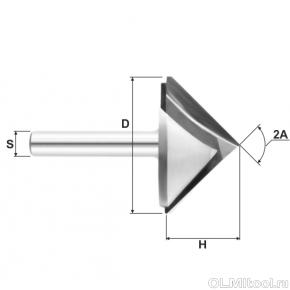 Фреза V-образная конусная DJTOL N2V12.45120