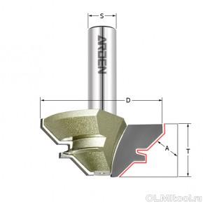 Фреза угловое сращивание 90гр. (15-28,5мм) Z=2 D=70x35 ARDEN 603235