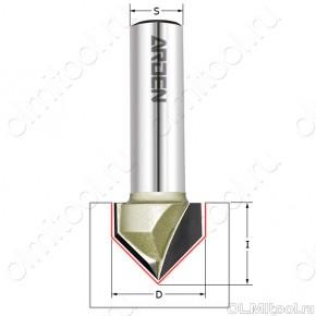 Фреза пазовая c углом 120гр. D=15,9x9,5x40 S=8 ARDEN 200831-1