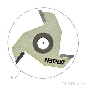 Сменные режущие диски (крепление гайкой) Z=3 D=47,6x2,2 ARDEN 704814