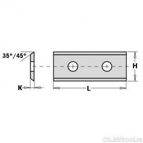 Нож твердосплавный для фрез 40x12x1.5 (Z2) 744.401215