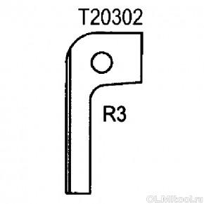 Нож радиусный R3 (T20302) ROTIS 744.T20302