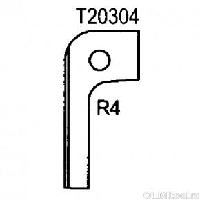 Нож радиусный R4 (T20304) ROTIS 744.T20304