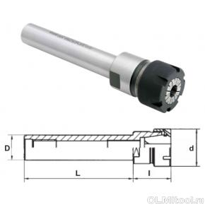 Удлинитель (патрон) 100мм, цанги (фрезы) ER11, S-8мм
