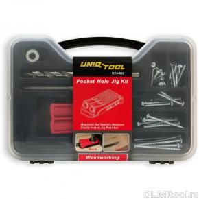 Приспособление для соединения саморезами Pocket hole Tool KIT в пластиковом боксе UTJ-002